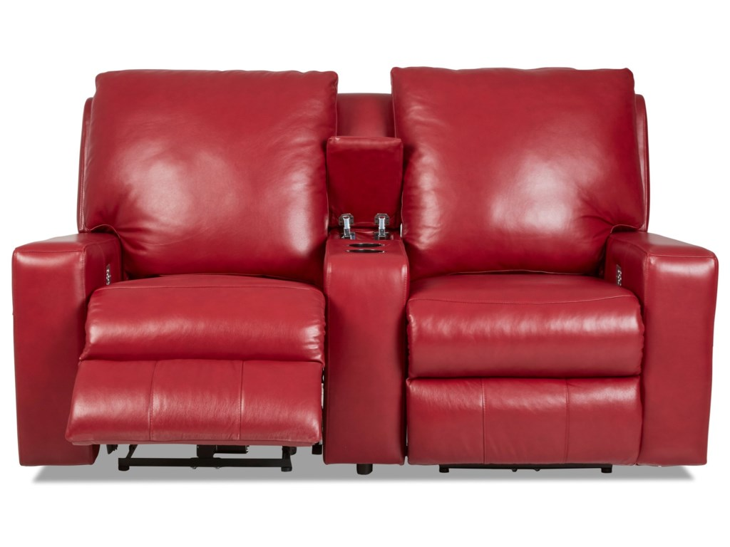 Klaussner AlliserPwr Recl Sectional w/ Pwr Headrests & Lumbar
