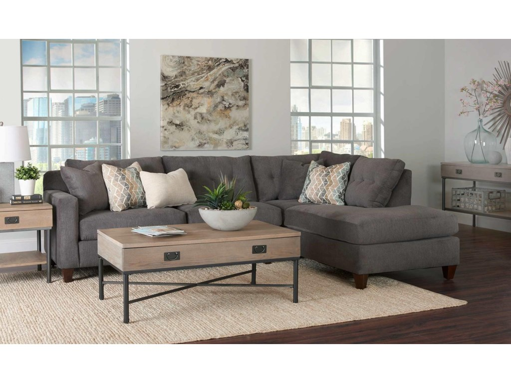 Aluna 2PC Sectional Sofa w/ Chaise by Simple Elegance at Rotmans