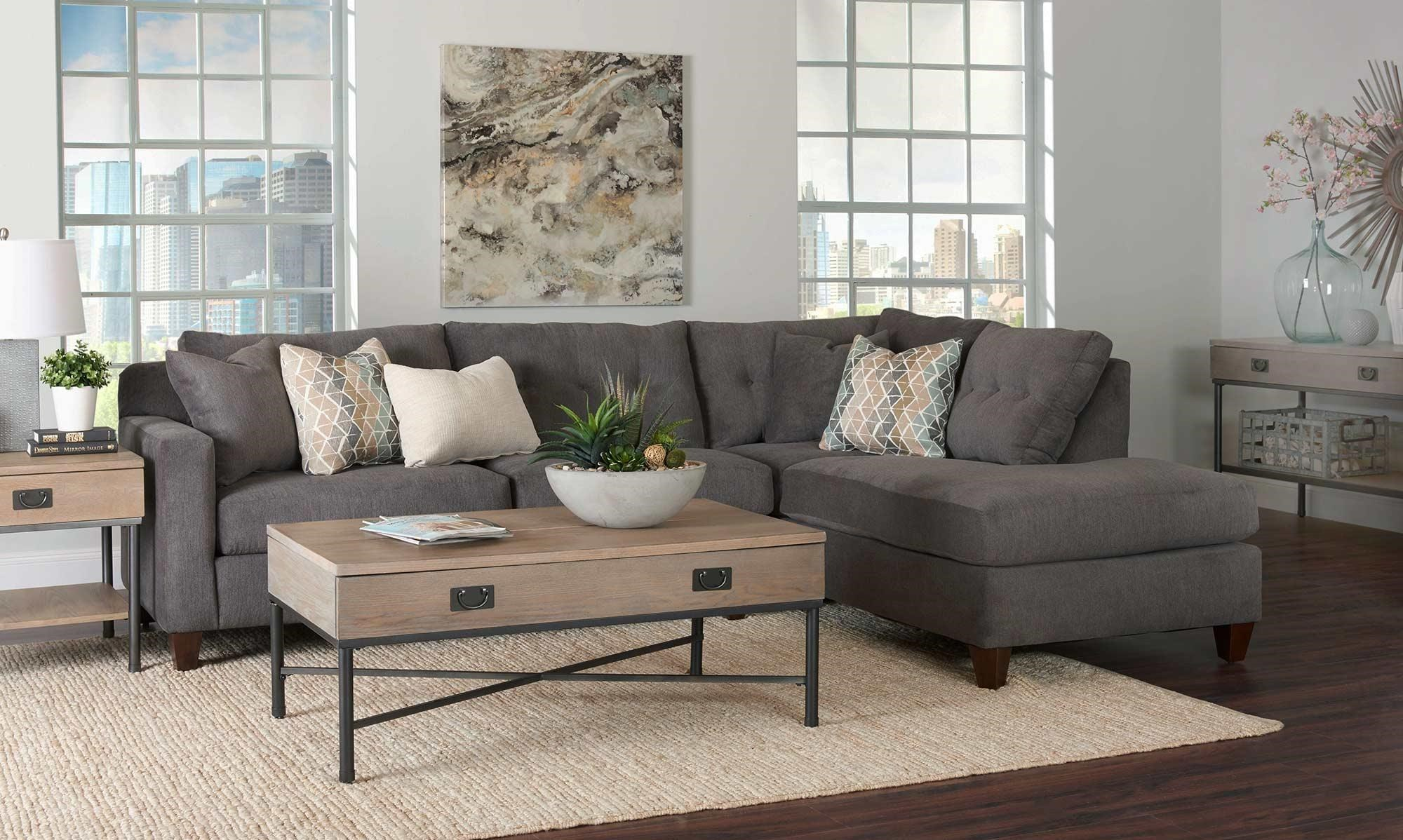 Beau Aluna 2PC Sectional Sofa W/ Chaise By Simple Elegance At Rotmans