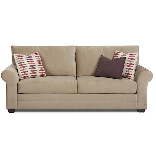 Klaussner Annalee Casual Sleeper Sofa with Queen Innerspring Mattress