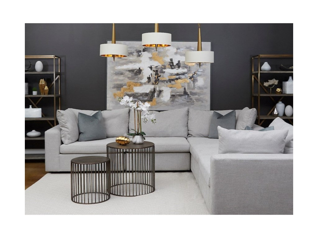 Klaussner Arnell4-Seat Sectional Sofa