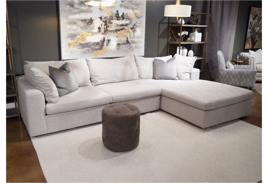 Sectional Sofa With Raf Wide Chaise