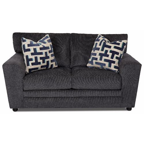 Klaussner Ashburn Casual Loveseat with Track Arms