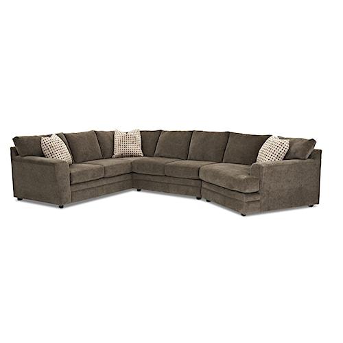Klaussner Ashburn Casual Sectional Sofa Group