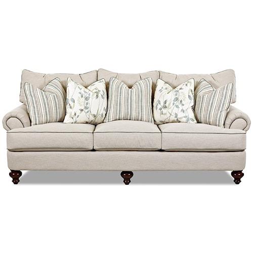 Klaussner Ashworth Shabby Chic Down Blend Sofa
