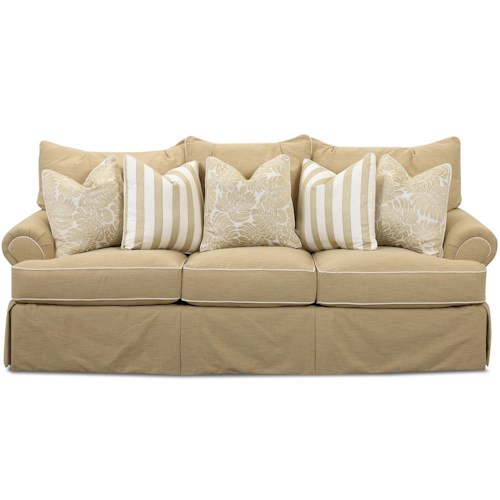 Klaussner Audrey Traditional Sofa With Welting Detail