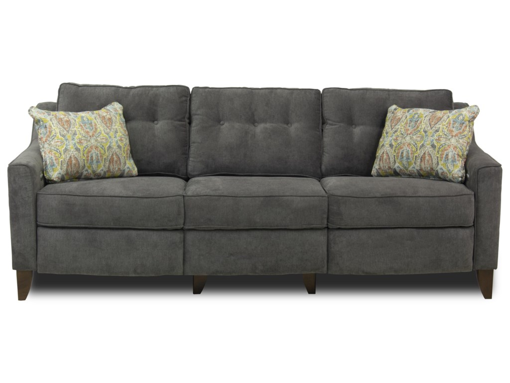 Metropia April Mid-Century Modern Style Sofa with Tufted Cushions ...