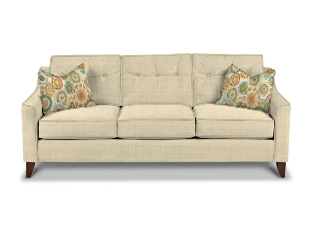 Klaussner Audrina K31600 S Mid-Century Modern Style Sofa with Tufted ...