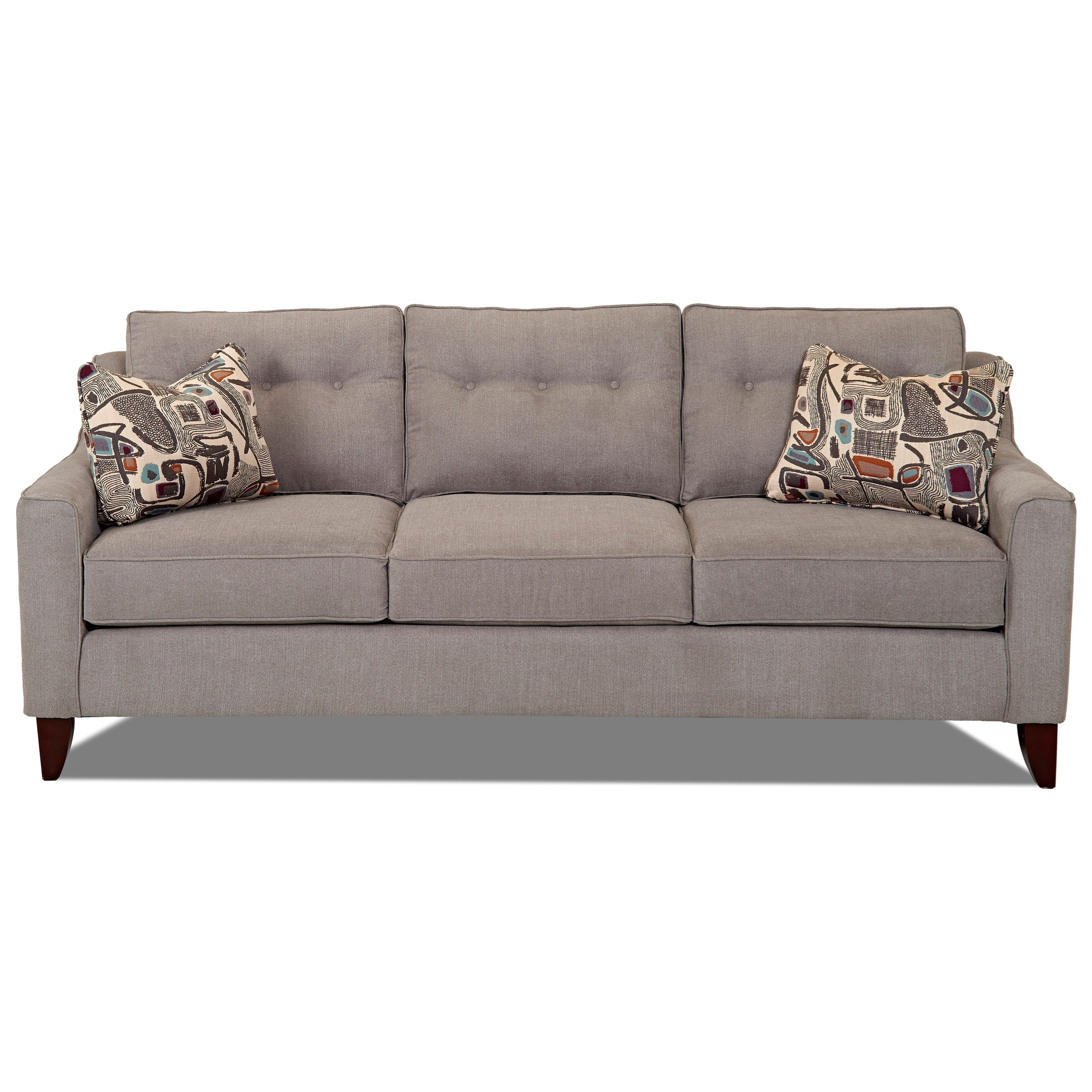 Klaussner Audrina Mid Century Modern Style Sofa With Tufted Cushions |  Miskelly Furniture | Sofas