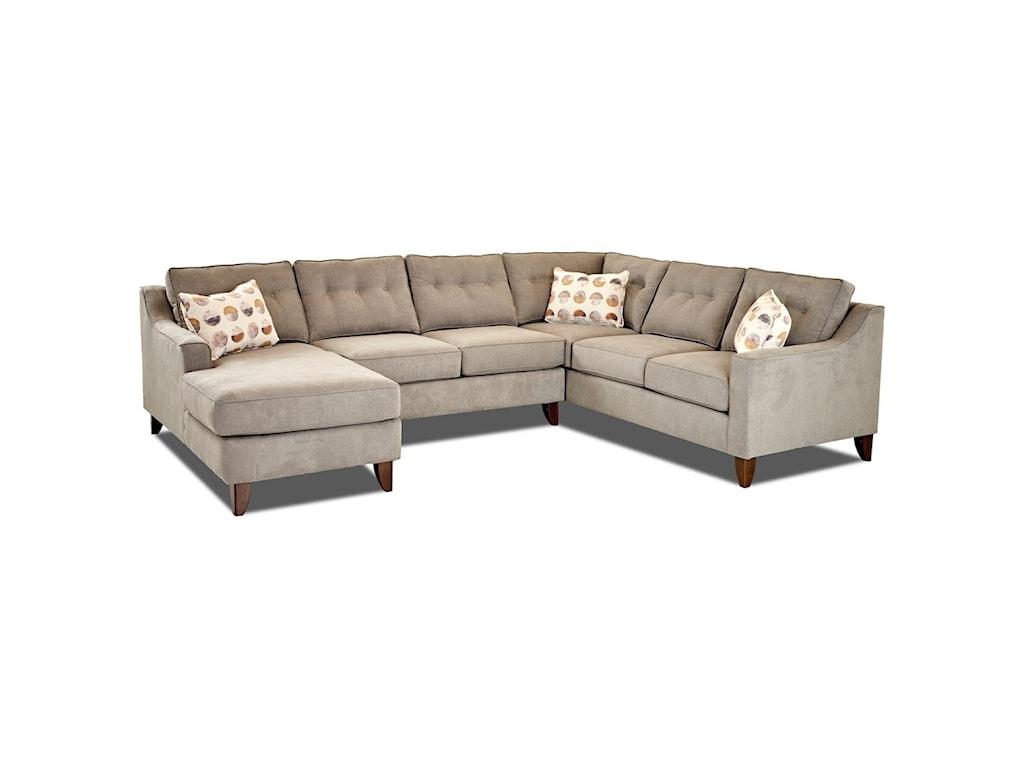 Klaussner AudrinaContermporary 3 Piece Sectional Sofa