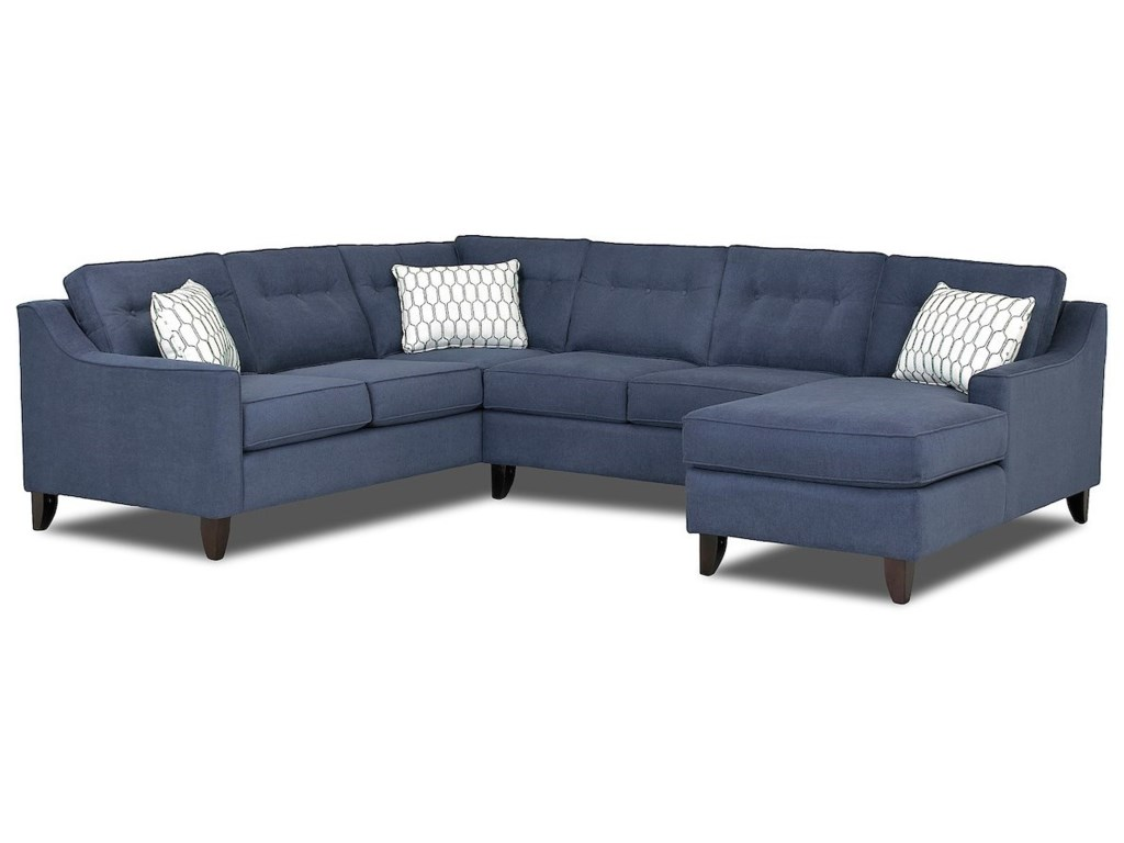 Klaussner AudrinaContemporary 3 Piece Sectional Sofa