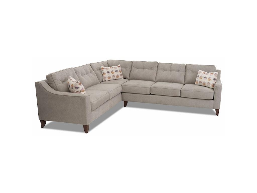 Klaussner Audrina2-Piece Sectional Sofa w/ LAF Corner Sofa