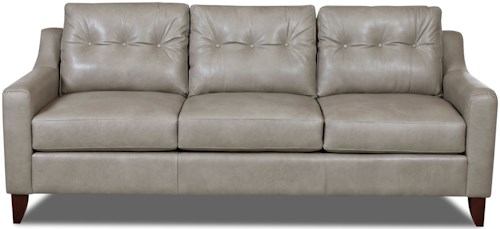 Klaussner Audrina Mid-Century Modern Style Sofa with Tufted Cushions