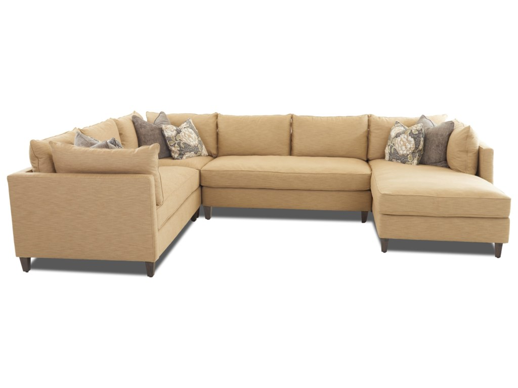 Klaussner AugustModular Sectional with Chaise