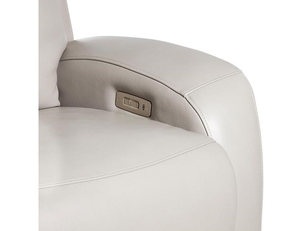 Klaussner AuroraPower Reclining Sofa w/ Power Head & Lumbar