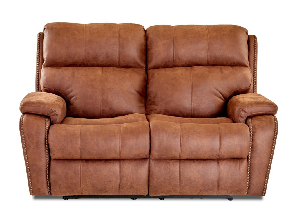 Simple Elegance AverettPower Reclining Loveseat w/ Nails & Pwr Head