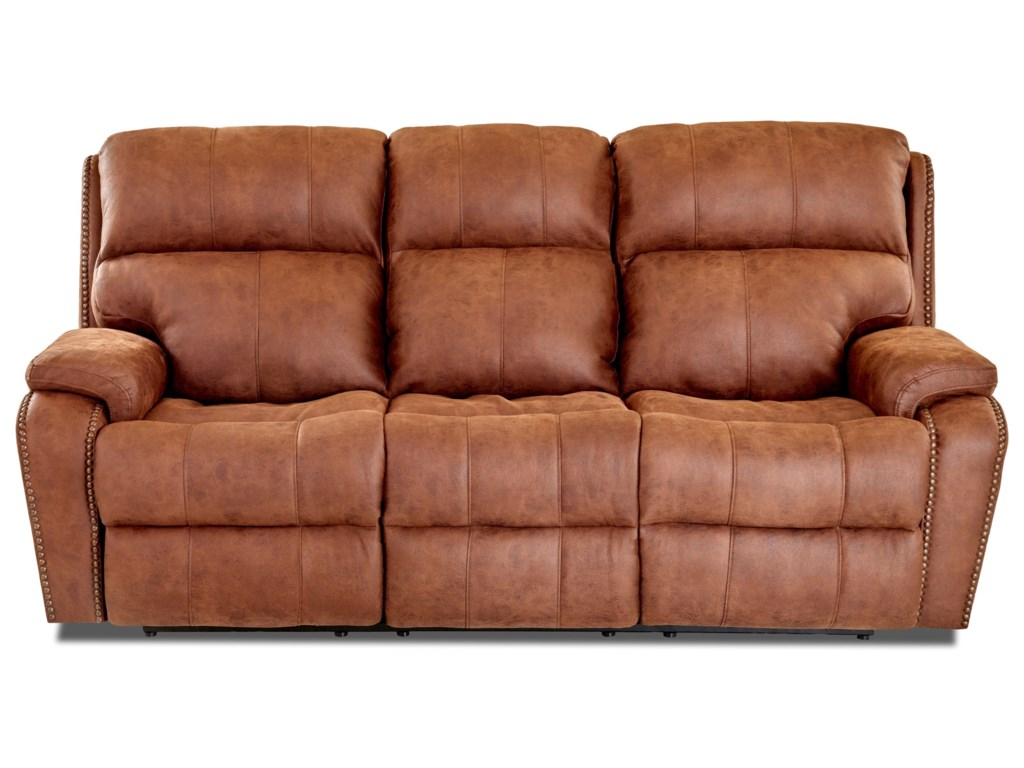 Klaussner AverettPower Reclining Sofa w/ Nails