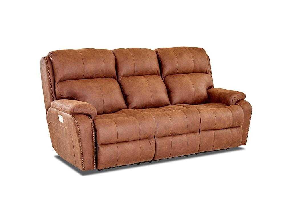 Klaussner AverettReclining Sofa w/ Nails