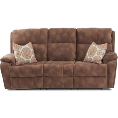 Reclining Sofa w/ Nails & Pillows
