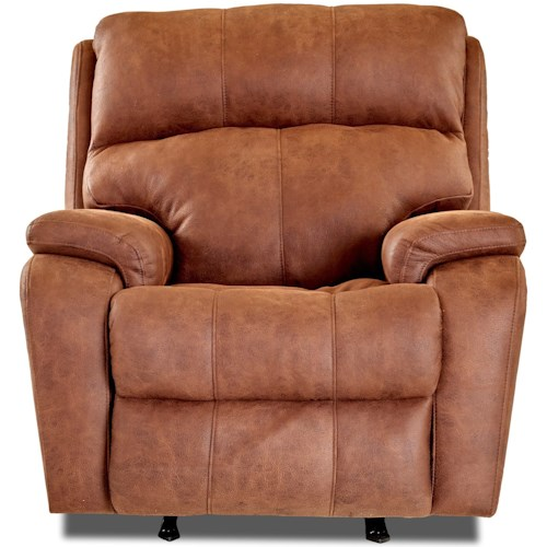 Klaussner Averett Casual Power Rocker Recliner with Power Headrest and USB Charging Port