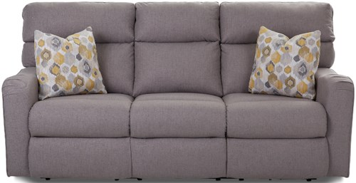 Klaussner Axis 25803 Power Reclining Sofa with Throw Pillows