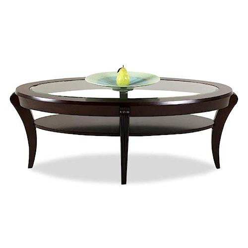 Klaussner International Bandero Oval Cocktail Table