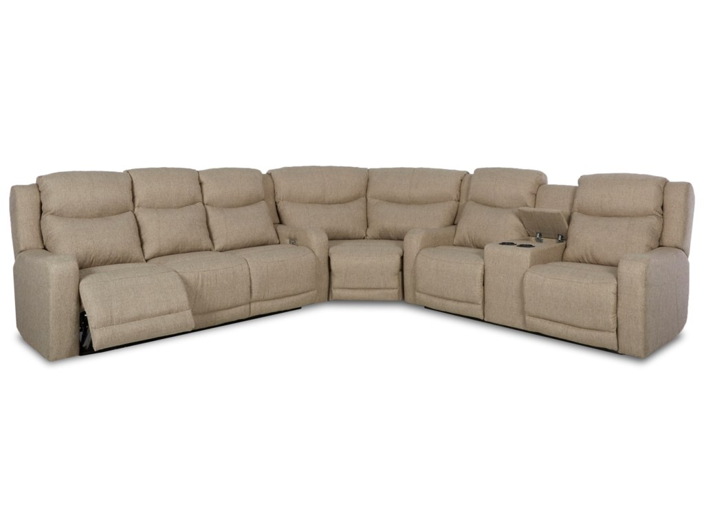 Klaussner Barnett3 Pc Reclining Sectional Sofa