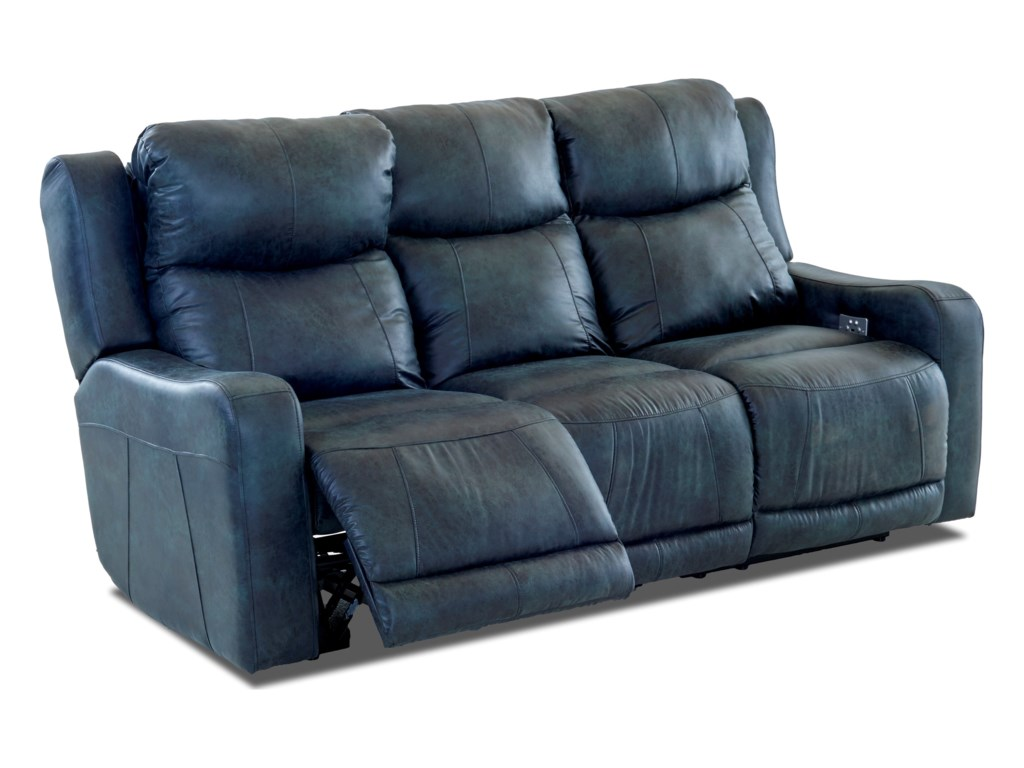 Klaussner BarnettPower Reclining Sofa w/ Pwr Headrest