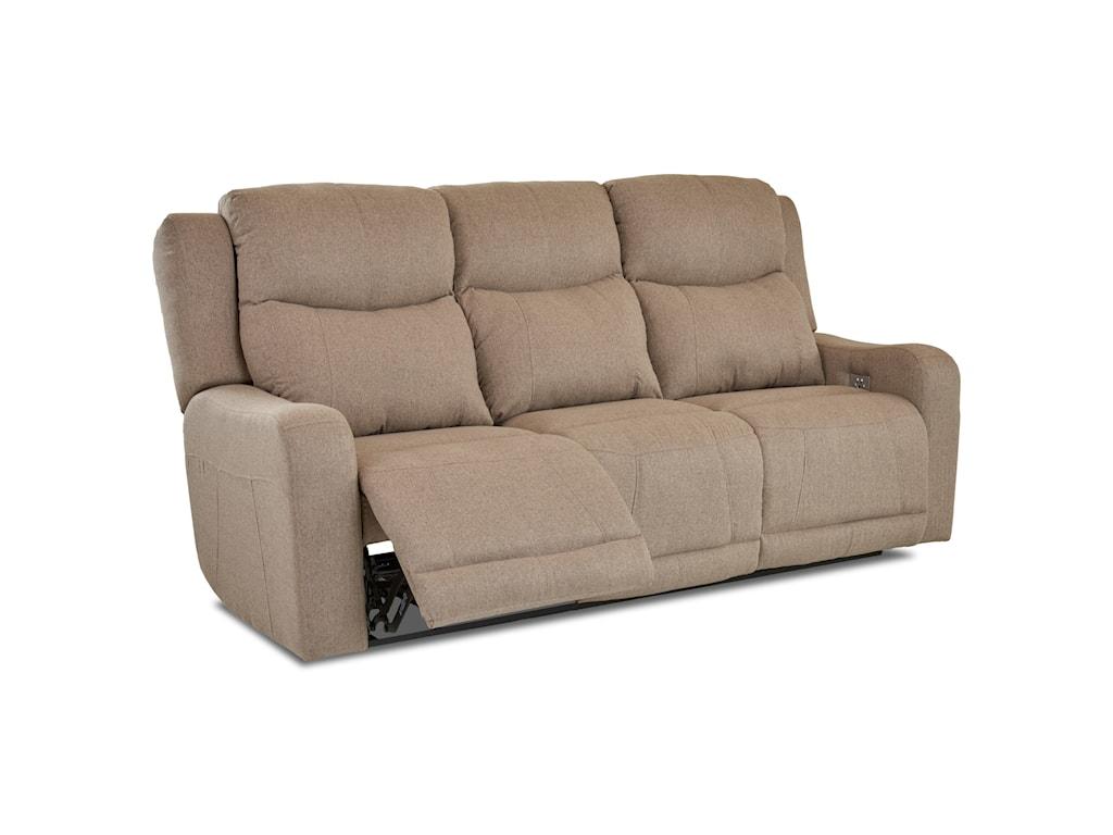 Klaussner BarnettPower Reclining Sofa w/ Pwr Headrest
