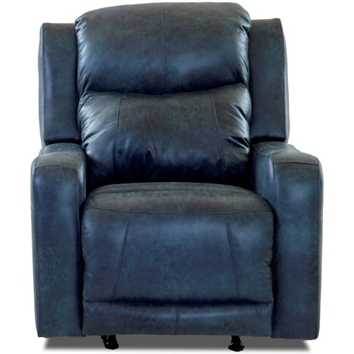 Klaussner Barnett Power Rocking Recliner with Power Adjustable Headrest and Lumbar