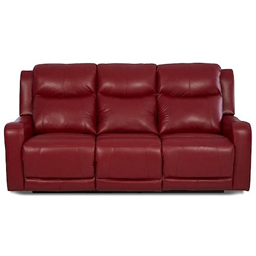 Klaussner Barnett Power Reclining Sofa with Power Adjustable Headrest and Lumbar