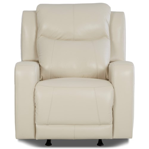 Klaussner Barnett Power Recliner with Power Adjustable Headrest and Lumbar