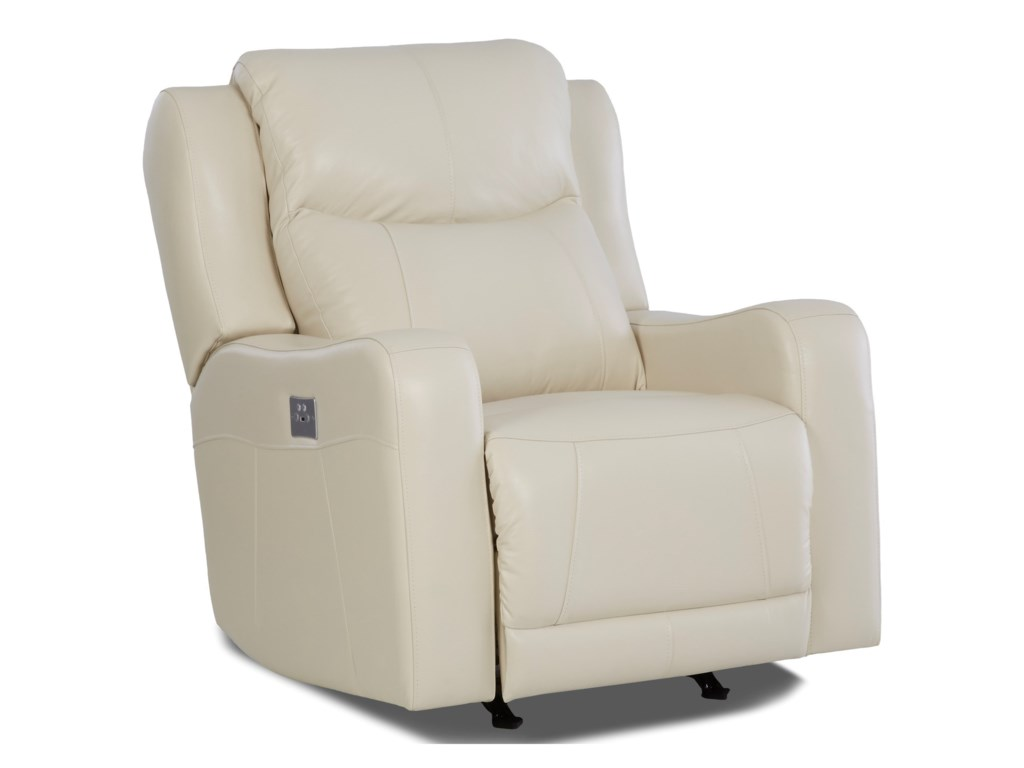 Klaussner BarnettPwr Rocking Recliner w/ Pwr Headrest