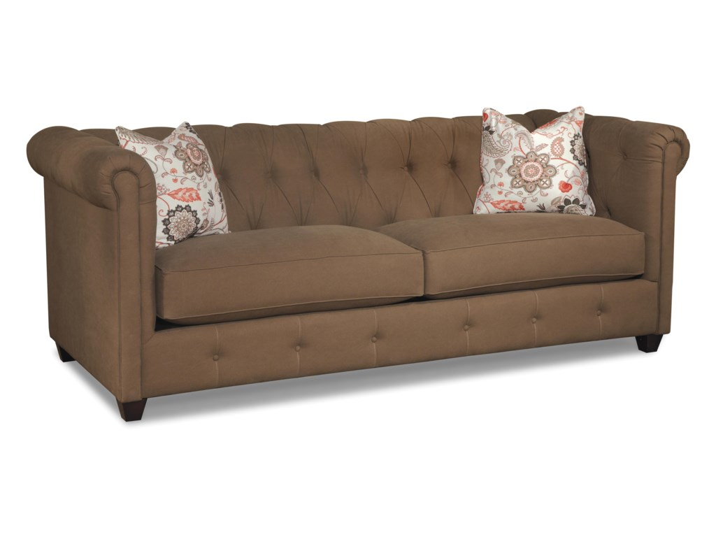 Klaussner Beech MountainTraditional Chesterfield Sofa