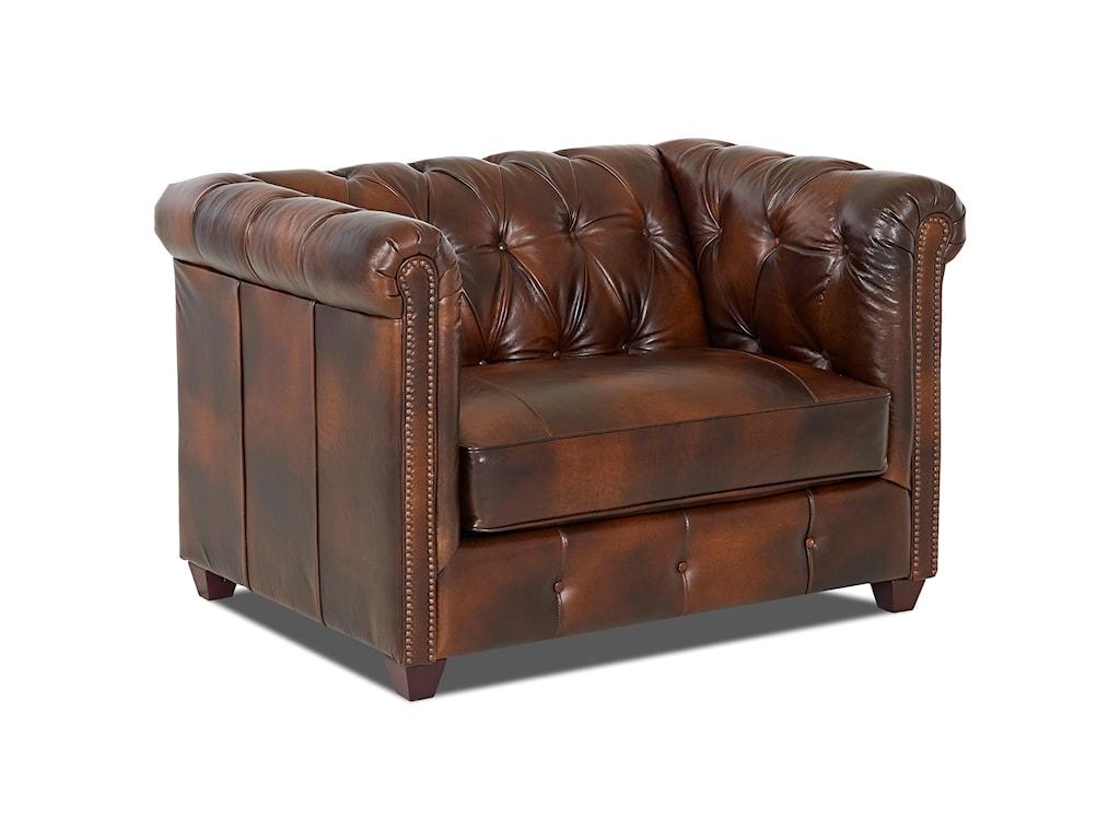 Klaussner Beech MountainBig Chair & Ottoman