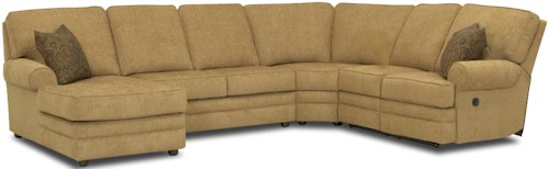 Klaussner Belleview Reclining Sectional With Left Side