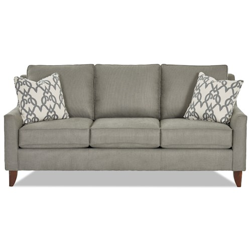 Klaussner Belton Casual Sofa with Track Arms