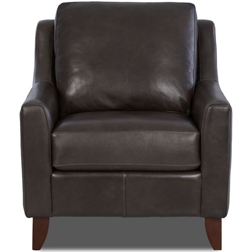 Klaussner Belton Casual Chair with Track Arms