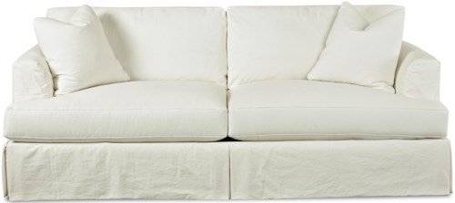 Klaussner Bentley Slipcover Stationary Sofa With Flared