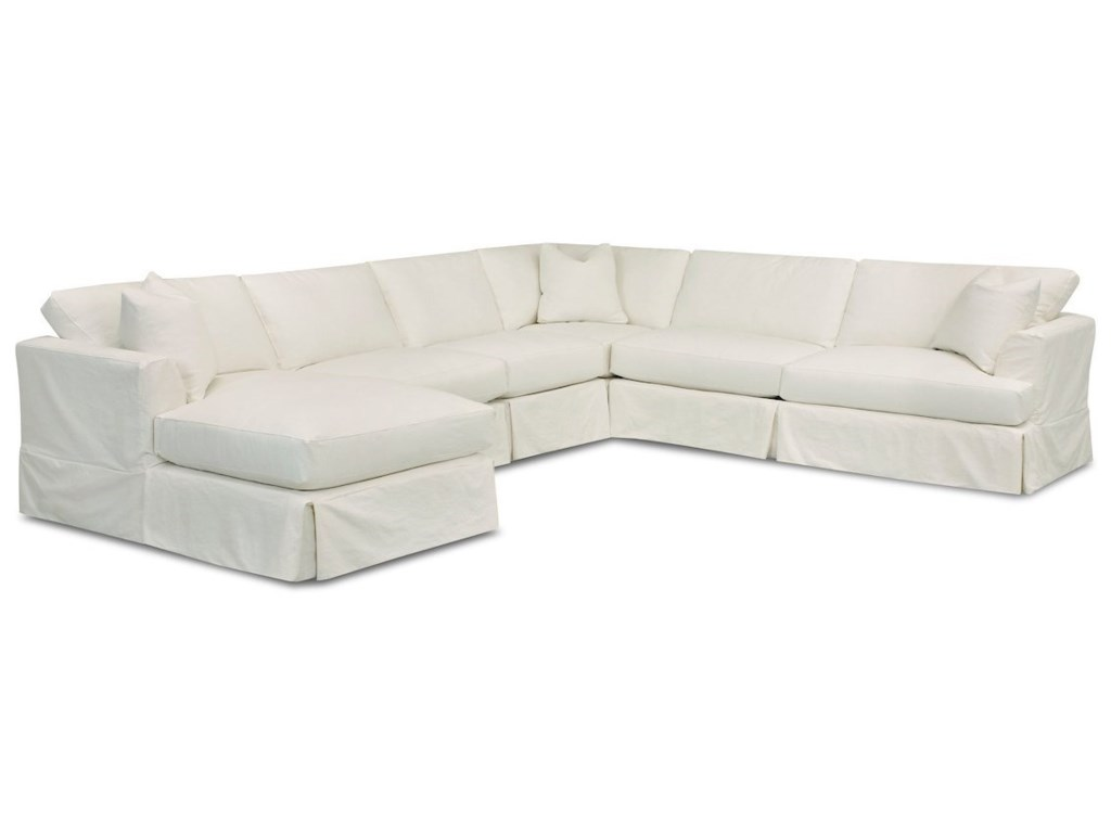 Klaussner Bentley5-Seat Sectional Sofa w/ LAF Chaise