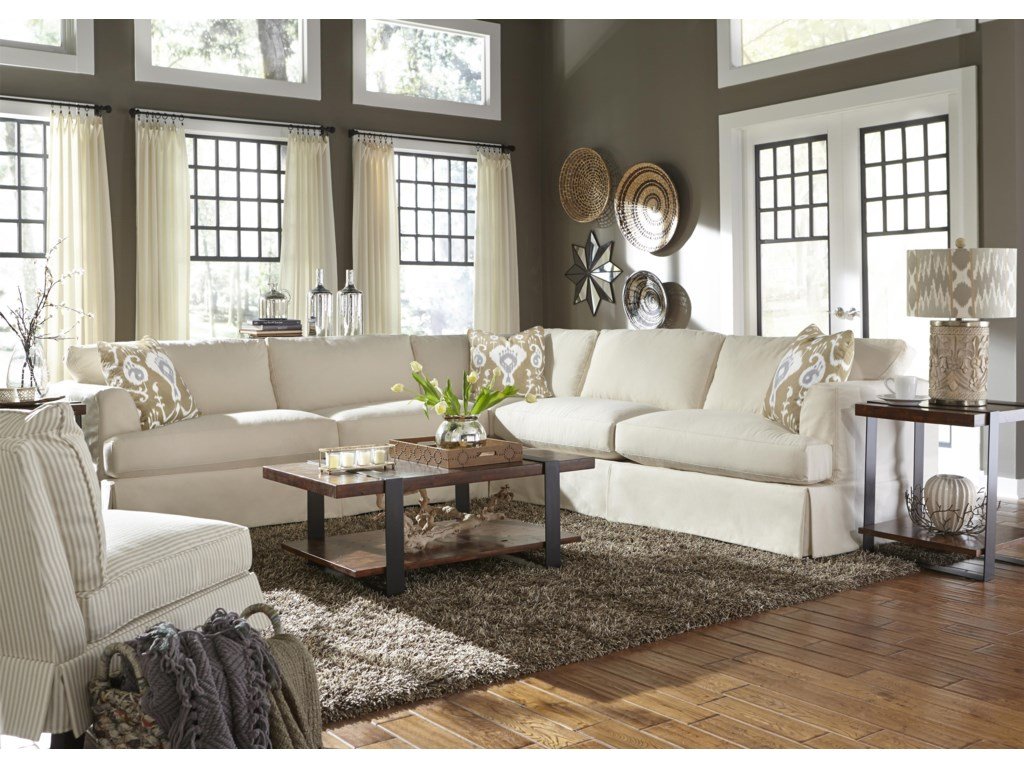 Klaussner BentleyCasual Sectional Sofa