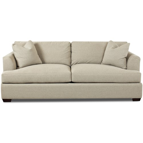Klaussner Bentley Contemporary Sofa With Flared Track Arms