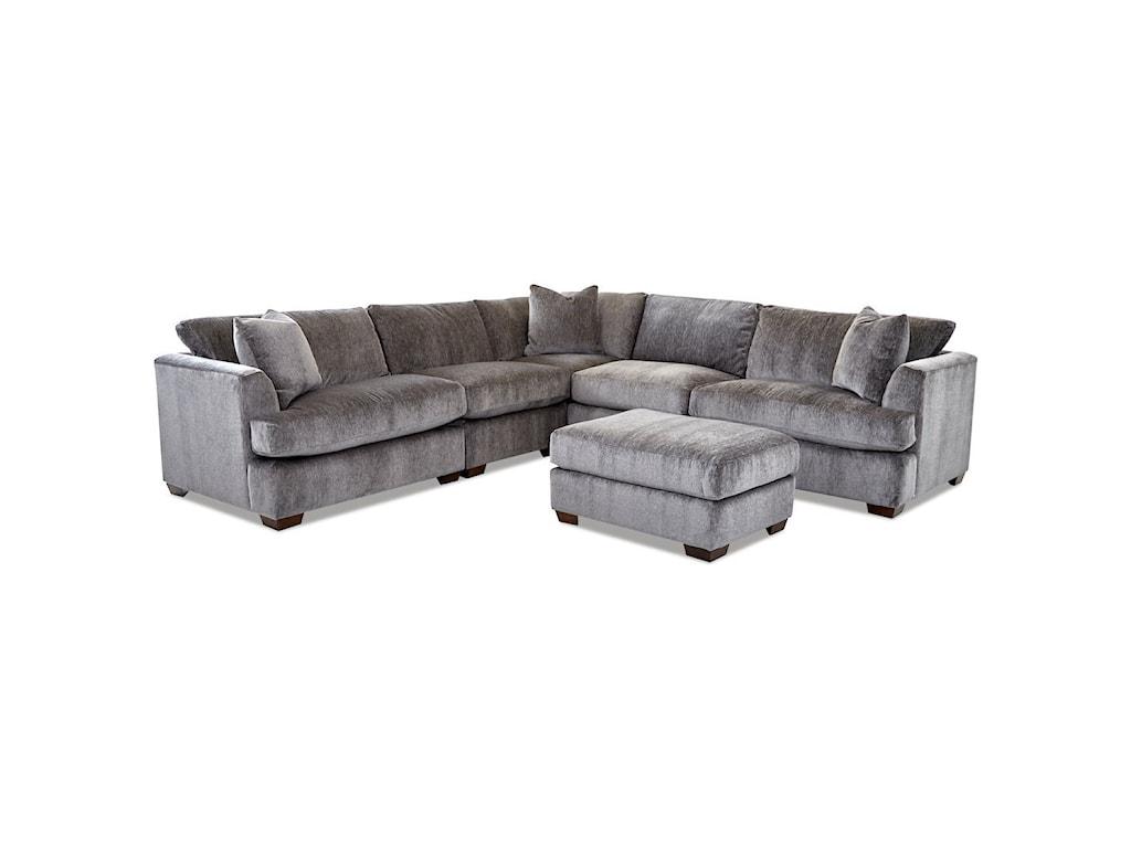 Klaussner Bentley4-Seat Sectional Sofa