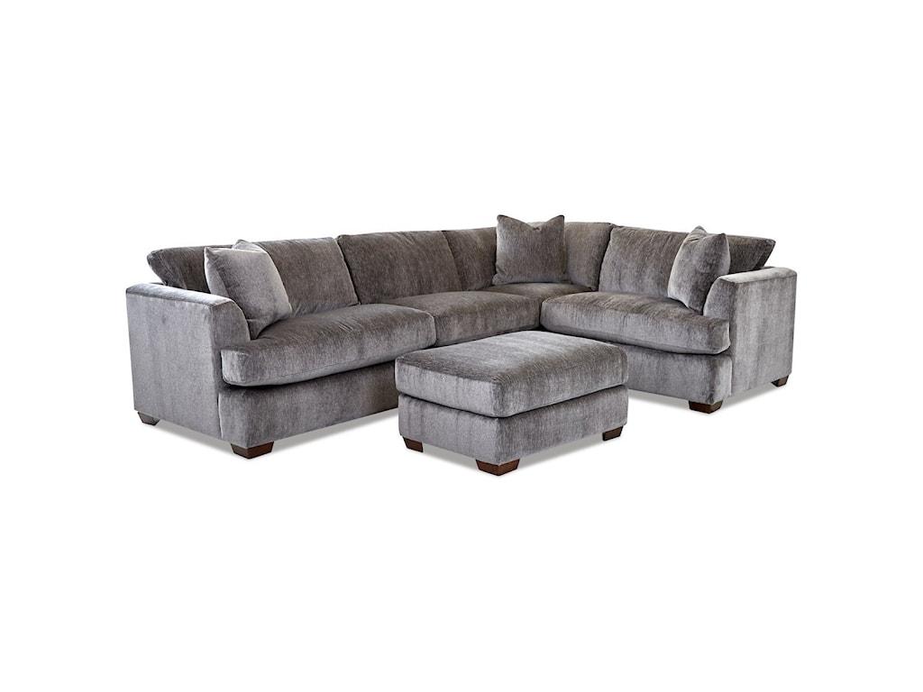 Klaussner Bentley3-Seat Sectional Sofa