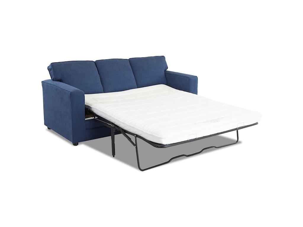 Klaussner BergerChaise Sleeper w/ Queen Air Coil Mattress