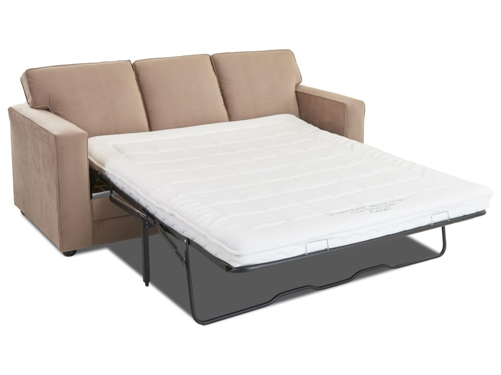 Klaussner BergerChaise Sleeper w/ Queen Air Coil Mattress