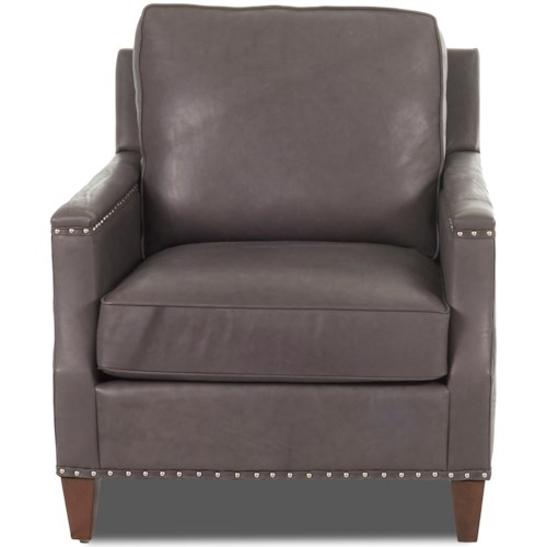 Klaussner Bond Transitional Chair with Nailhead Studs (No Trim)