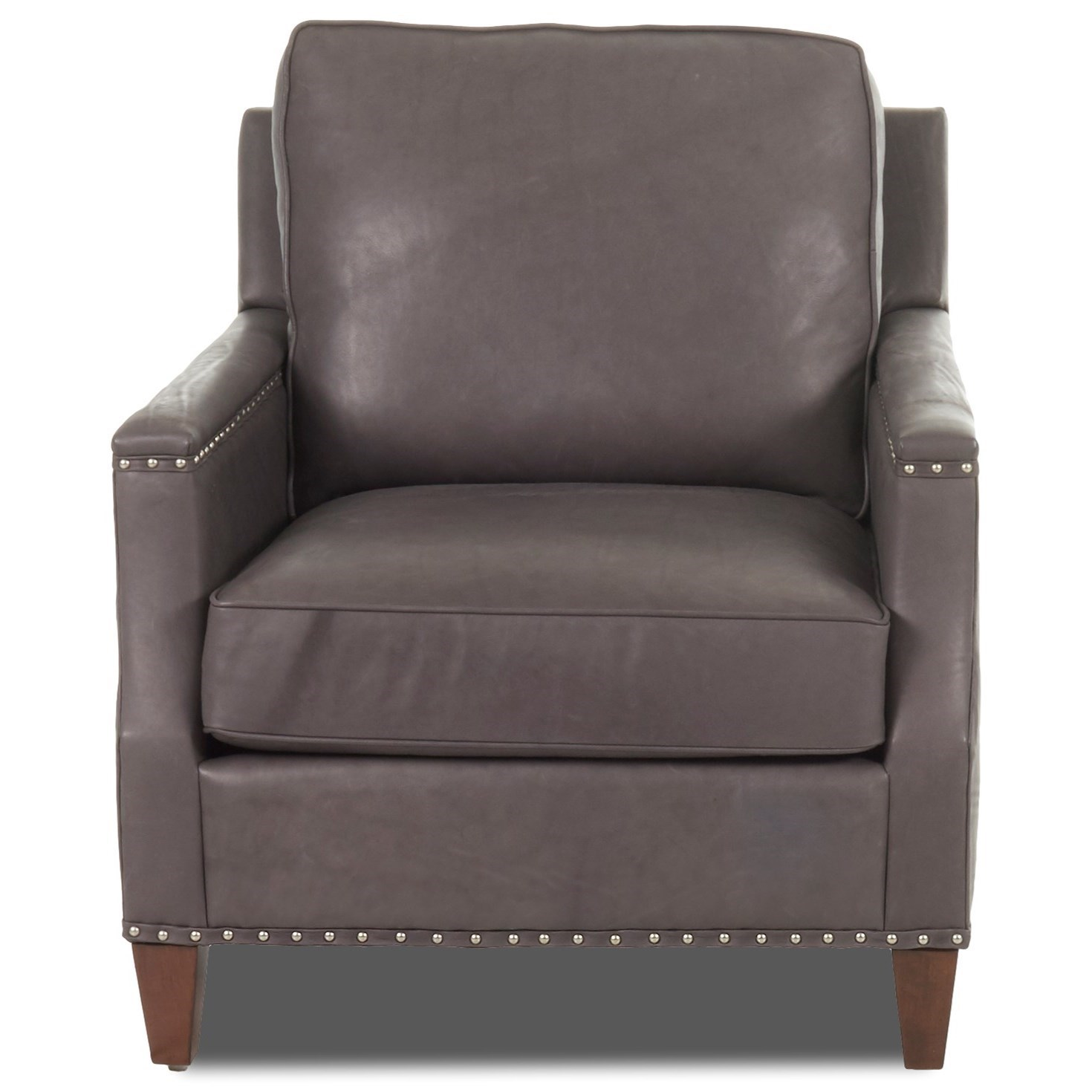 Klaussner Bond Transitional Chair With Nailhead Studs (No Trim) | Value  City Furniture | Upholstered Chairs