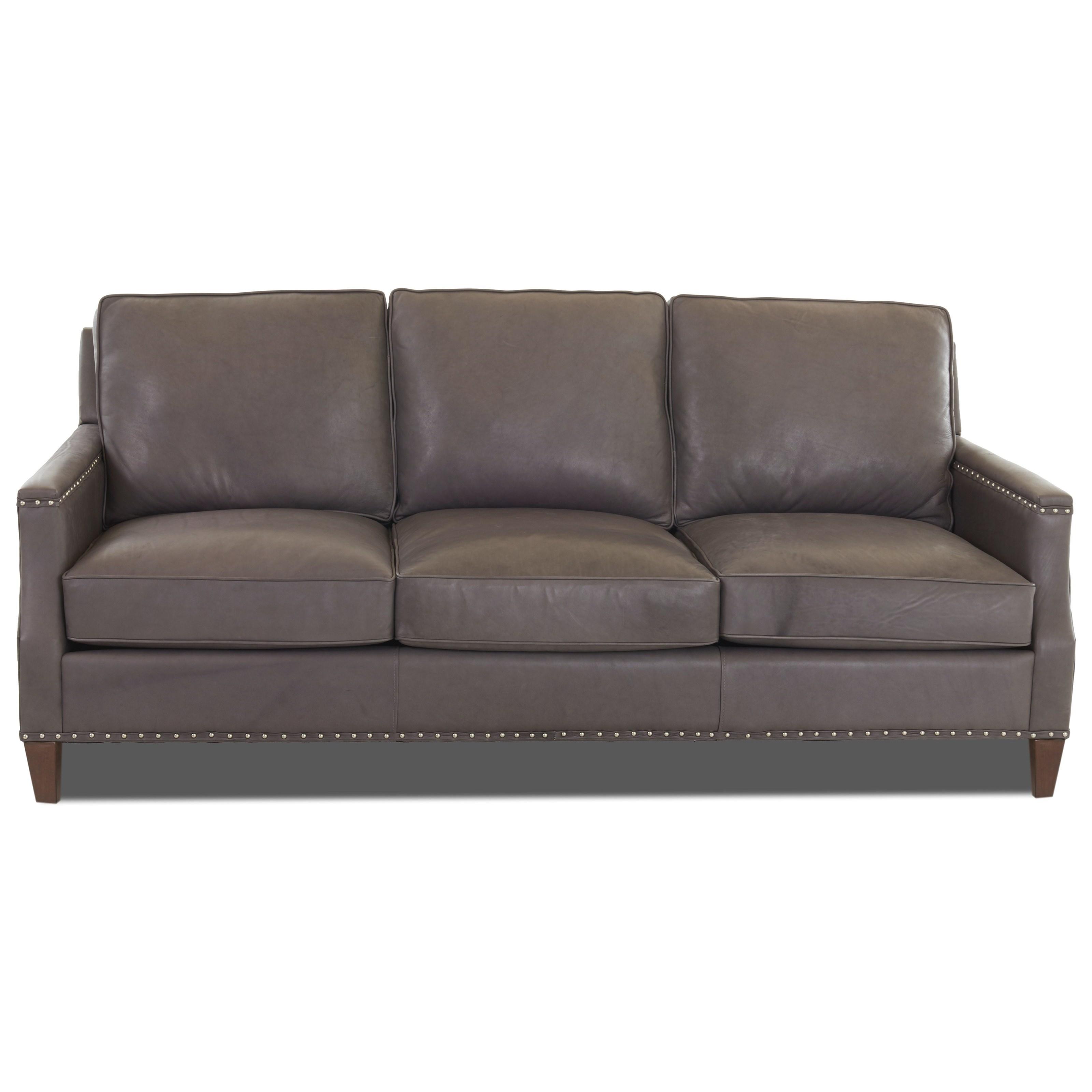 Klaussner Bond Transitional Sofa With Nailhead Studs (No Trim)   Novello  Home Furnishings   Sofas