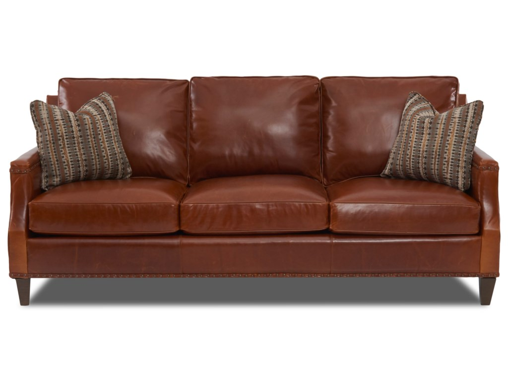 Klaussner BondLeather Sofa w/ Pillows